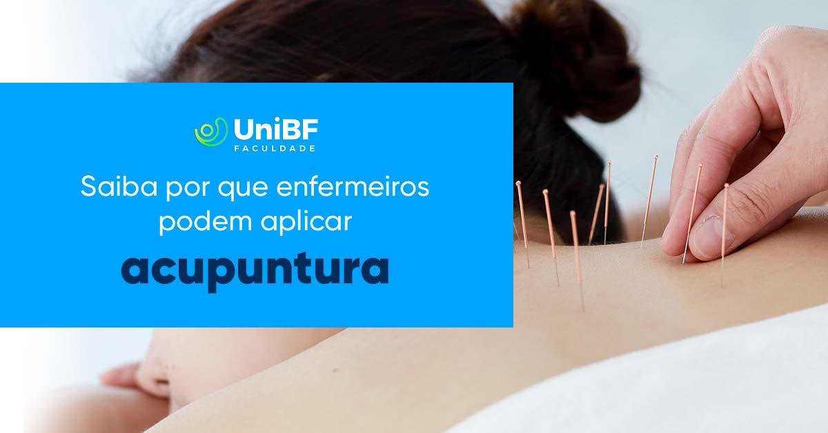 Enfermeiros podem fazer acupuntura?
